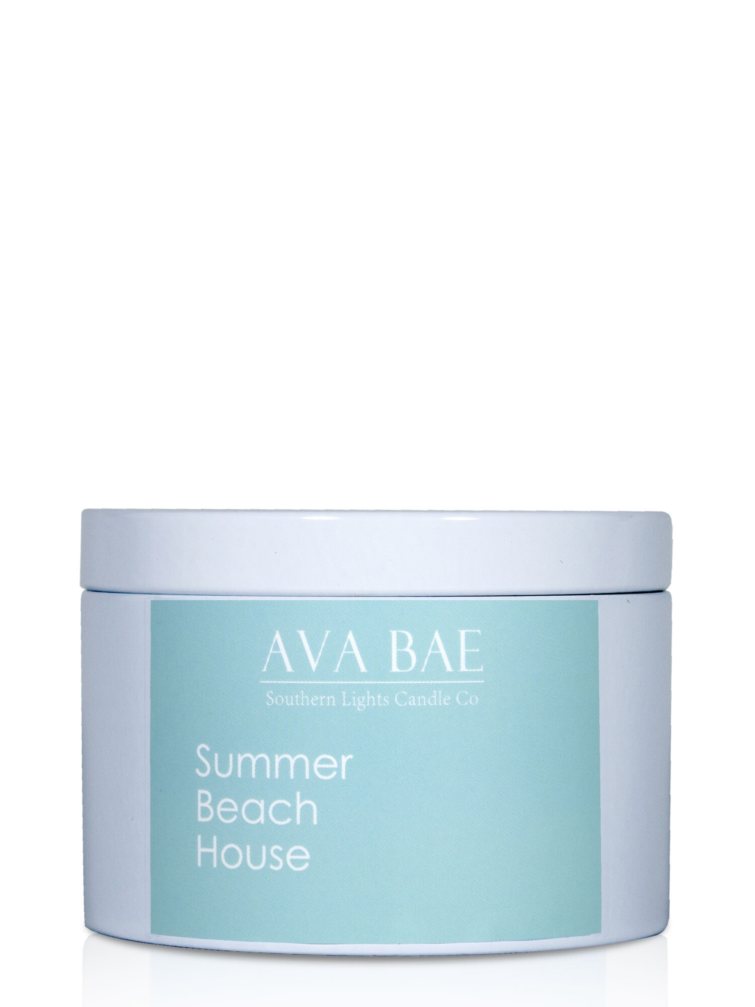Ava Bae Soy Travel Tin 200g - Summer Beach House