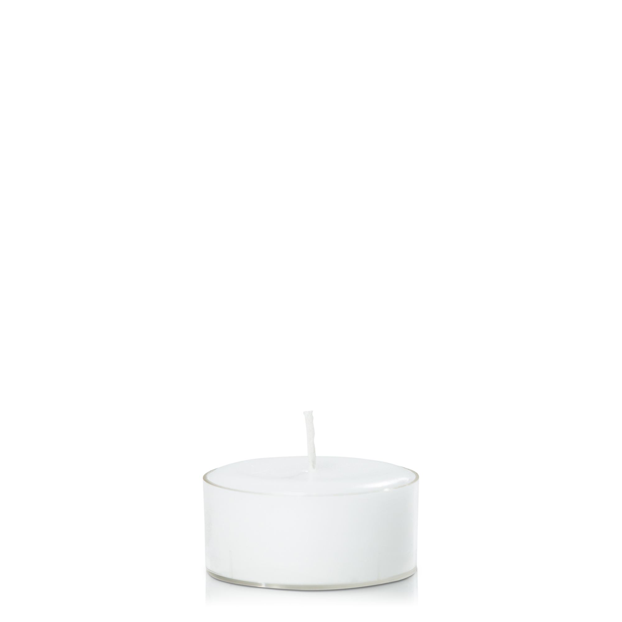 Acrylic Cup Tealight- White, Pack of 10
