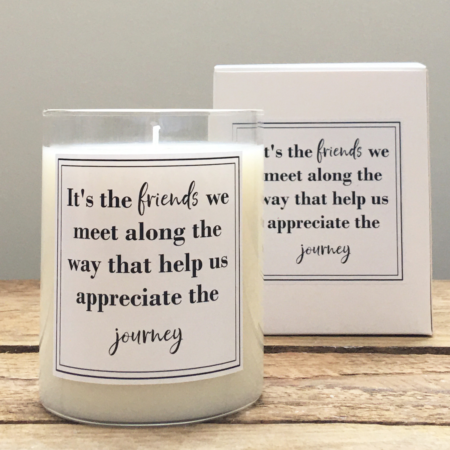 "Scented Soy ""Friends"" Jar"