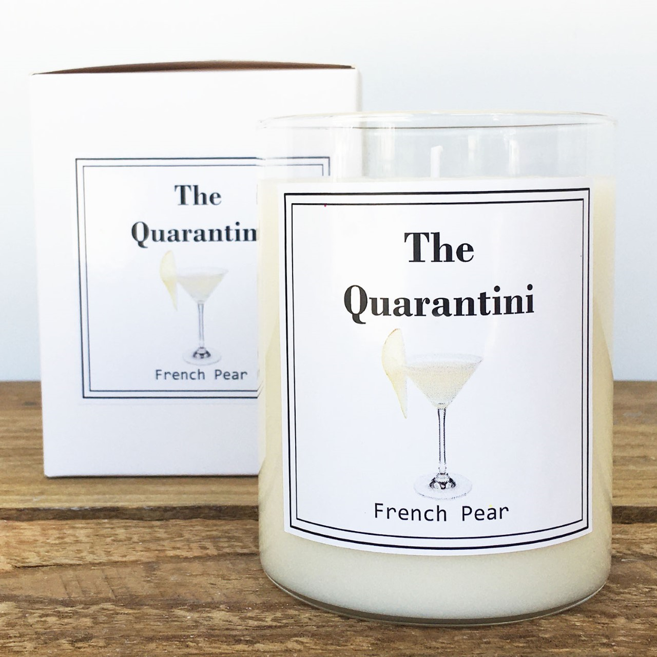 "Limited Scented Soy ""Quarantini"" Jar"